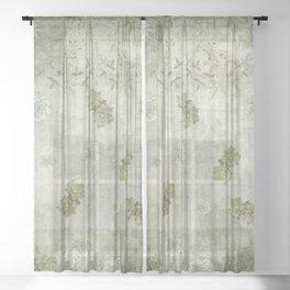 Sage Green Wallflowers Sheer Curtain