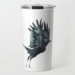Crow Taking Off Travel Mug