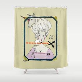 CUT HERE Shower Curtain