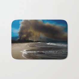 Brush fire and the beach  Bath Mat