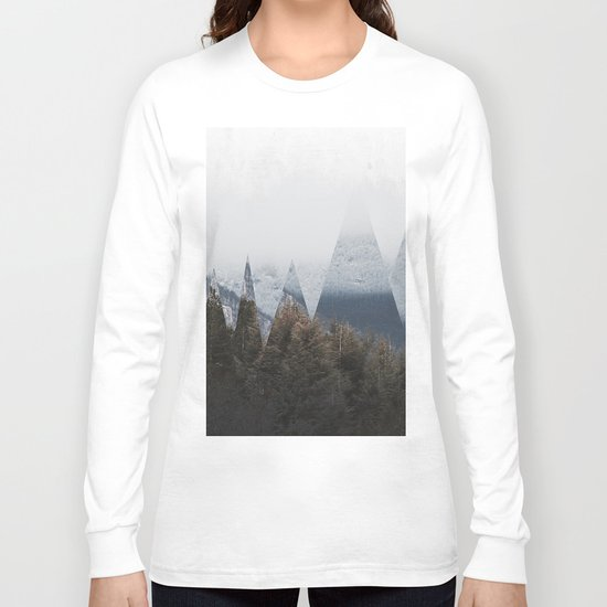 Winter Mountains Long Sleeve T-shirt