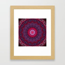 Vibrant Purple Red Mandala Framed Art Print