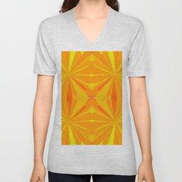 230 - Abstract orange design Unisex V-Neck