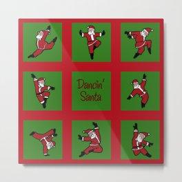 Dancing Santa Pattern 1 Metal Print
