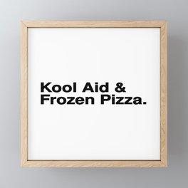 KOOL AID & FROZEN PIZZA Framed Mini Art Print