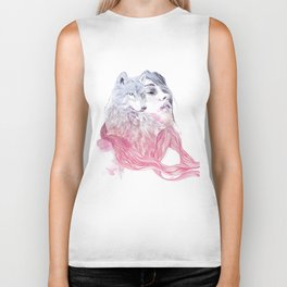 A Wolf in Girls Clothings Biker Tank