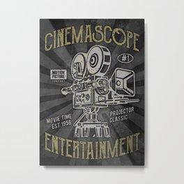 Cinemascope cameraman camera movie Metal Print