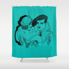 Guy and Gal Pal Around Town Shower Curtain
