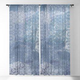 Shibori Lace Collage Sheer Curtain