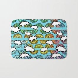 Rainbow Waves Bath Mat