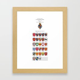 KING HENRY IV - Roll of arms of the Knights of the Garter installed during his reign Framed Art Print