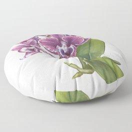 Purple Phalaenopsis Orchid Floor Pillow