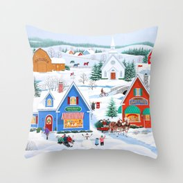 Wintertime in Sugarcreek Throw Pillow