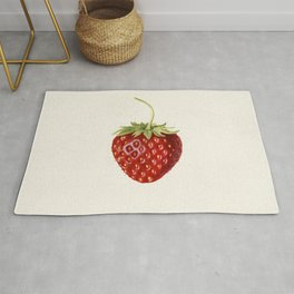 Strawberry (Fragaria) (1930) by Louis Charles Christopher Krieger Rug