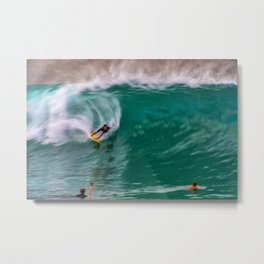 Backside Surfing at the Wedge Metal Print
