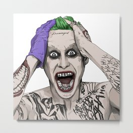 THE JOKER (JARED LETO) Metal Print
