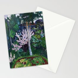 Spring Cherry Blossoms in the Mountains landscape painting by Nicolai Astrup Stationery Cards