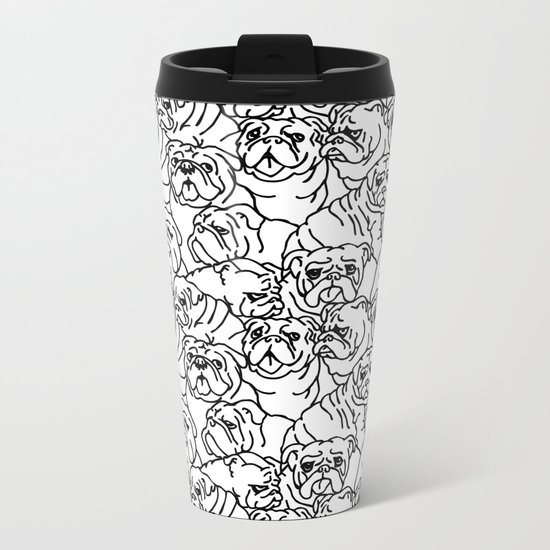 Oh English Bulldog Metal Travel Mug