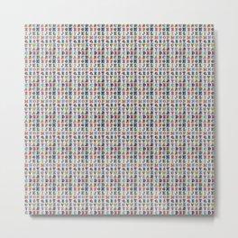 Alphabet Pattern Metal Print