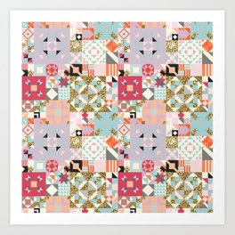 Moroccan Quilt Pattern Art Print