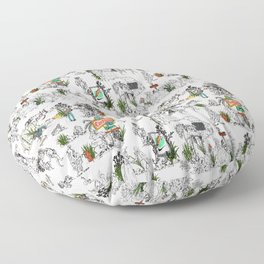 Toile de Jouy modern Floor Pillow