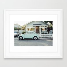 car vintage Framed Art Print