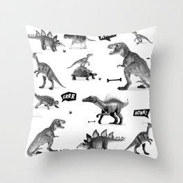 Dinosaur Hunt Throw Pillow