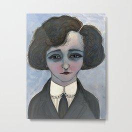 """""""La Vagabond Colette"""", Colette Literary Portrait Metal Print"""