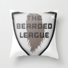 The Bearded League Throw Pillow