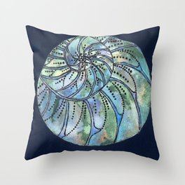 Dreaming Shell Throw Pillow