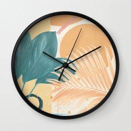 Abstract Tropical Art XII Wall Clock