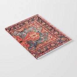 Kashan Poshti Central Persian Rug Print Notebook