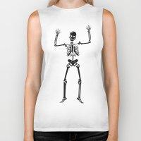skeleton Biker Tanks featuring Skeleton  by YUNG-GOD