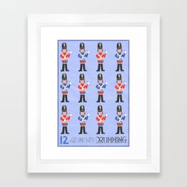 Twelve Drummers Framed Art Print