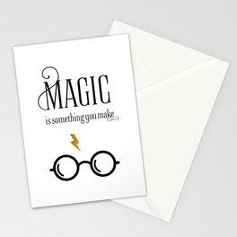 HP Print Art, magic is something you make, modern art Print Stationery Cards