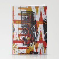 cameras Stationery Cards featuring Cameras by Print Mafia