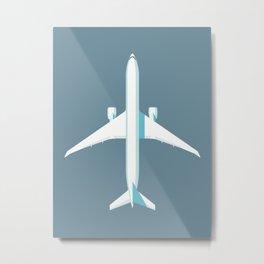 777 Passenger Jet Airliner Aircraft - Slate Metal Print