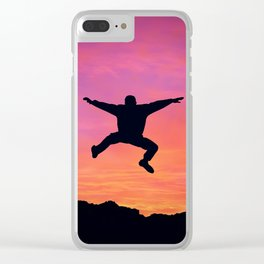 happy three friends Clear iPhone Case