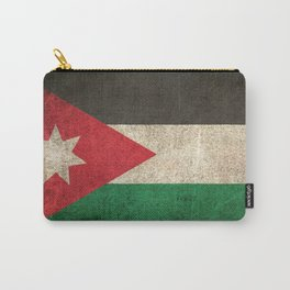 Old and Worn Distressed Vintage Flag of Jordan Carry-All Pouch