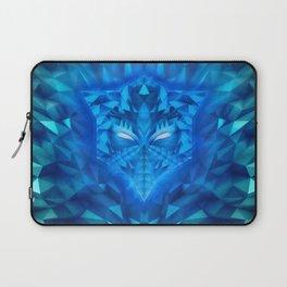 Deep Ice Blue - Sub Zero Transformers Wolf Mask Portait  Laptop Sleeve
