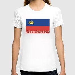 Liechtenstein country flag name text T-shirt