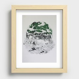 SILENT QUEEN Recessed Framed Print