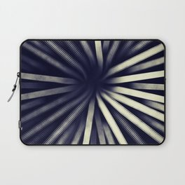 Intersecting-Retro Blue Laptop Sleeve