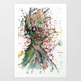 Chaos Zombie Art Print
