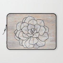 Beige Succulent Laptop Sleeve