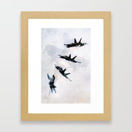 Superhornet Framed Art Print