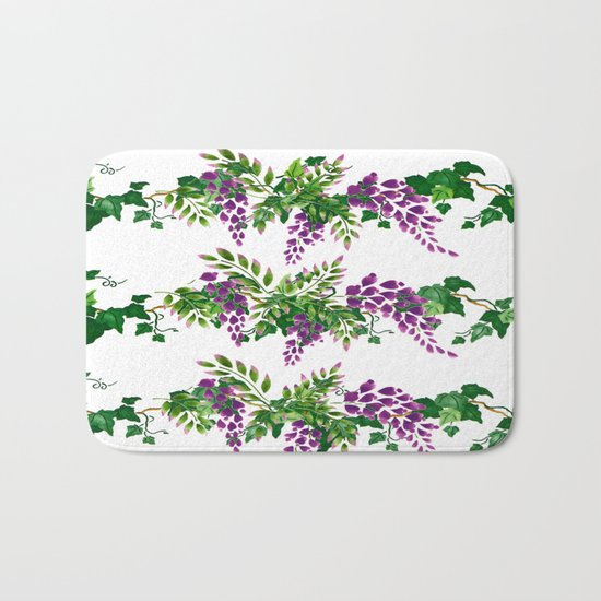 Wisteria and Ivy Bath Mat