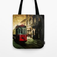 istanbul Tote Bags featuring Istanbul by pinarinadresi