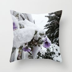 Snow in Spring Throw Pillow