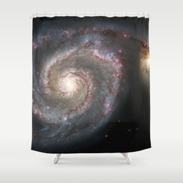 Messier 51 Shower Curtain